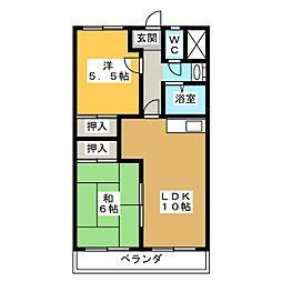 メゾン宿地[3階]の間取り