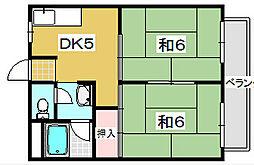 岡田マンション[205号室]の間取り
