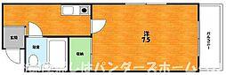 大阪府枚方市池之宮2丁目の賃貸マンションの間取り