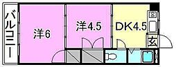 ロイヤル三津[605 号室号室]の間取り