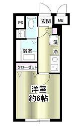 notice椎名町 1階1Kの間取り