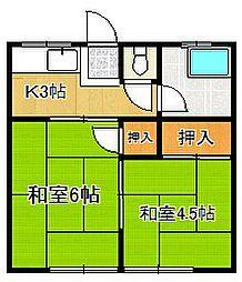 江崎アパート[103号室]の間取り