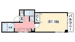竹下ハイツ[203号室]の間取り