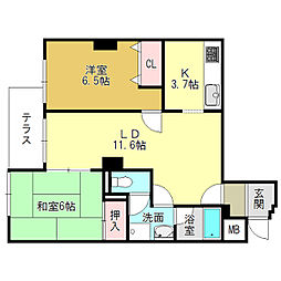 ヴィンテージハウス大和高田[1階]の間取り