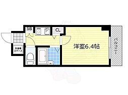 エステムコート新大阪 10階1Kの間取り