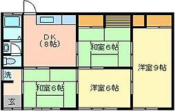 [一戸建] 茨城県日立市十王町山部 の賃貸【/】の間取り