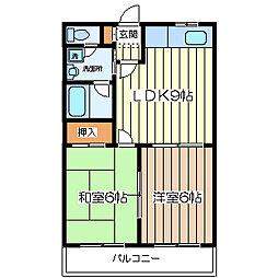 シャンクレール塚本[8階]の間取り