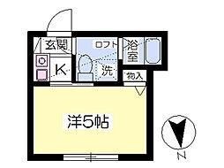 マ・ピエス南生田 1階1Kの間取り