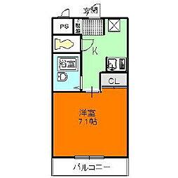 メゾンフェアリー[2階]の間取り