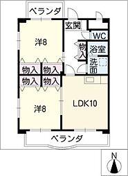 グリーンパークマンション2[1階]の間取り