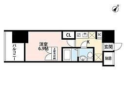 大阪府大阪市福島区吉野2の賃貸マンションの間取り