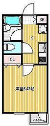 ブロードワン旗の台[3階]の間取り