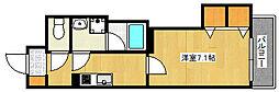 JR東海道・山陽本線 摩耶駅 徒歩15分の賃貸マンション 3階1Kの間取り