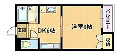 大阪府大阪市旭区新森6丁目の賃貸マンションの間取り