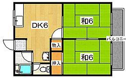 エコート藤原A棟[2階]の間取り