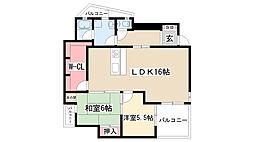 カーサ小井堀[1階]の間取り