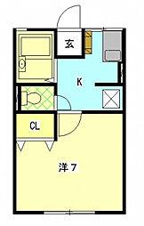 ファーストB[2階]の間取り