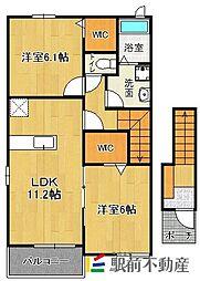 桜ガルデンI[2階]の間取り