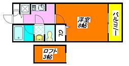 ヴェル・ドミール栗山 202号室[2階]の間取り