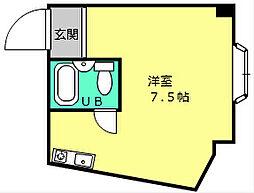 ハイツルフレ[3階]の間取り