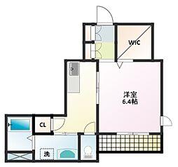 愛知県名古屋市名東区高社1丁目の賃貸アパートの間取り