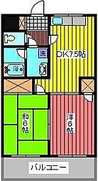 サンライズ(西青木)[3階]の間取り