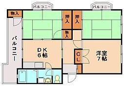 第2的野ビル[3階]の間取り
