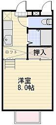長野県長野市丹波島2丁目の賃貸アパートの間取り