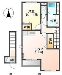 ルナフール[2階]の間取り