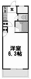 ロマネスク姫島[302号室]の間取り