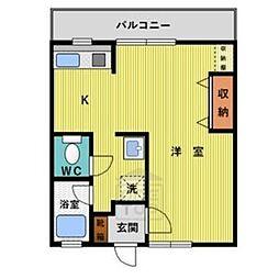 パールマンション月ヶ丘[303号室]の間取り