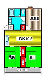 第3末広マンション[2階]の間取り