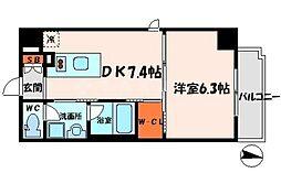 カーザ大倉[2階]の間取り