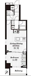 オープンレジデンシア日本橋馬喰町ステーションサイド[2階号室]の間取り