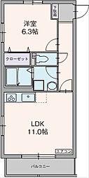 静岡県三島市大場の賃貸マンションの間取り