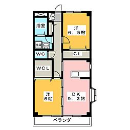 Espoir鷹居 A棟[1階]の間取り