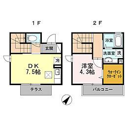 JR東海道本線 戸塚駅 バス12分 横浜医療センター前下車 徒歩2分の賃貸アパート 102階1DKの間取り
