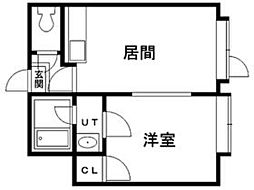 北海道札幌市豊平区月寒東一条11丁目の賃貸アパートの間取り