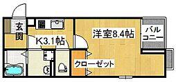 GLANZ諸福[1階]の間取り