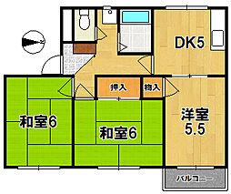 奈良県奈良市三条大路1丁目の賃貸アパートの間取り