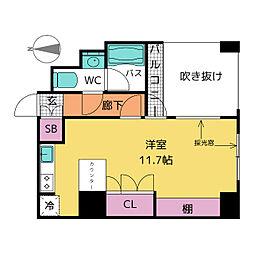 ドゥーエ大須[5階]の間取り