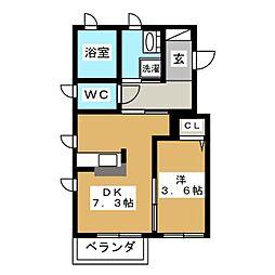 オーチャードリゾート[1階]の間取り