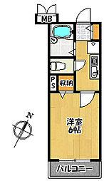 クレール加茂[4階]の間取り