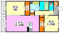 (仮)D-room飯山満町A[3階]の間取り