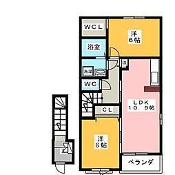 エーデルシュタインB[2階]の間取り