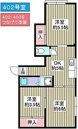 石川屋泉尾ビル[402号室]の間取り