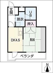 チサンマンション錦1104号室[11階]の間取り