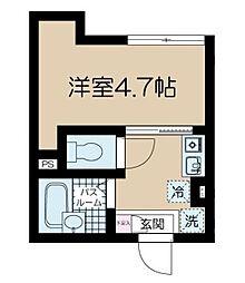 東京都中野区弥生町4丁目の賃貸マンションの間取り