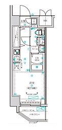 横浜市営地下鉄ブルーライン 阪東橋駅 徒歩5分の賃貸マンション 5階ワンルームの間取り