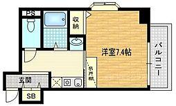 KDXレジデンス西院[2階]の間取り